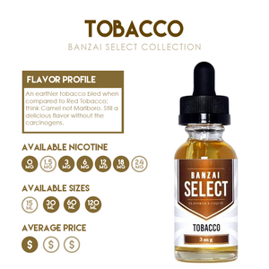 Featured Flavor Tobacco from the Banzai Select Collection