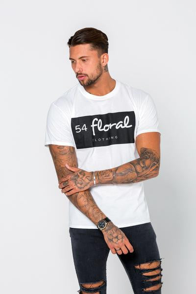 54 FLORAL INVERT T-SHIRT | WHITE
