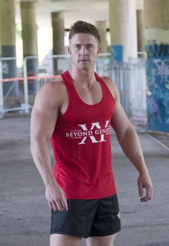Beyond Genetics PRO FIT BODYBUILDING STRINGER VEST - RED
