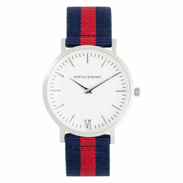 Burtley & Baines DEVA 40MM 1ST EDITION - RED & BLUE NATO