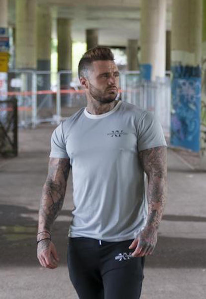 Beyond Genetics PRO FIT BODYBUILDING GYM T SHIRT GREY