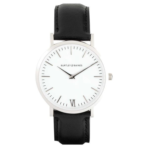 Burtley & Baines DEVA 40MM 1ST EDITION - BLACK LEATHER