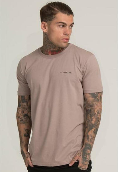 Illusive London A PARACHUTE HEM TEE – BEIGE