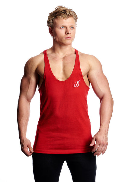 Beyond Genetics SCRIPT BODYBUILDING STRINGER VEST RED