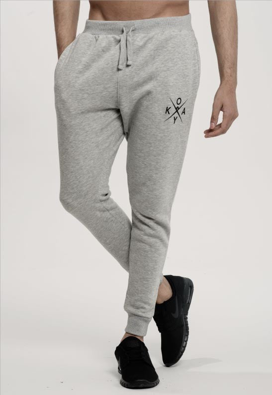 Owkay Clothing UNISEX TRACKSUIT SWEATPANTS HEATHER GREY