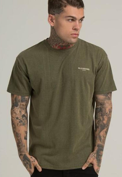 Illusive London A SAND BLAST TEE - KHAKI