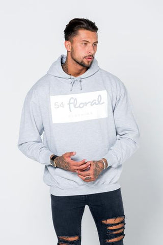 54 FLORAL INVERT HOODY PULLOVER | GREY