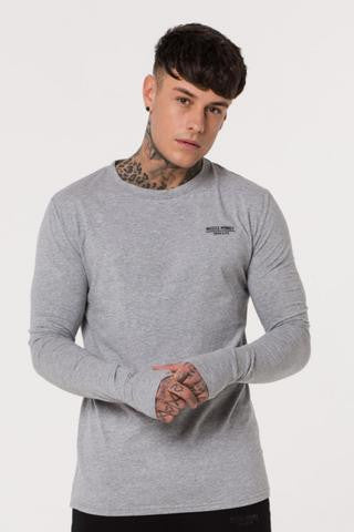 Muscle Monkey GREY LONG SLEEVE TEE
