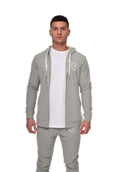 Unique Physique URBAN GREY FITTED HOODED TOP