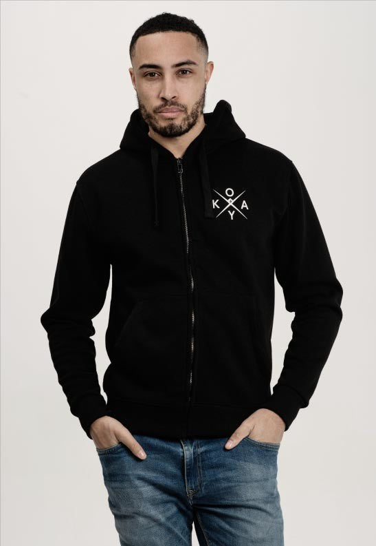 Owkay Clothing UNISEX TRACKSUIT ZIP-UP HOODIE BLACK