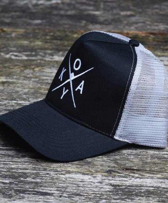 Owkay Clothing TRUCKER CO BLACK & GREY