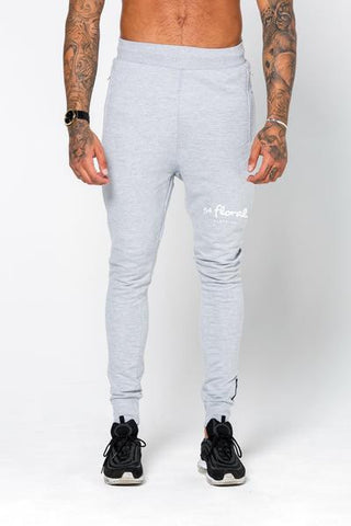 54 Floral EMBLEM SLIM JOGGER BOTTOM - GREY