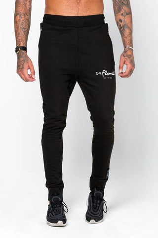 54 Floral EMBLEM SLIM JOGGER BOTTOM - BLACK