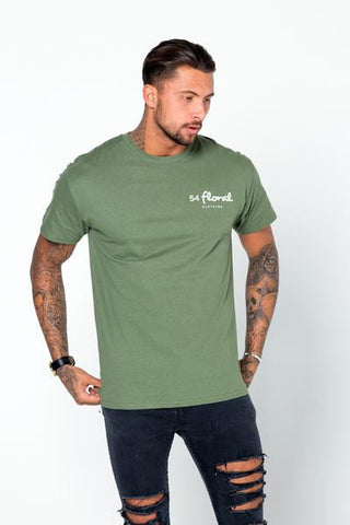 54 FLORAL BASE T-SHIRT | KHAKI GREEN