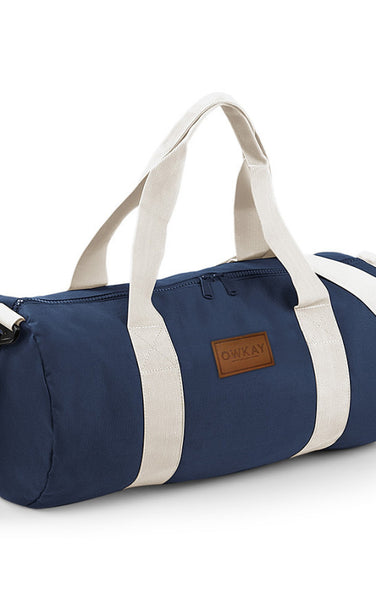 Owkay Clothing BARREL BAG NAVY