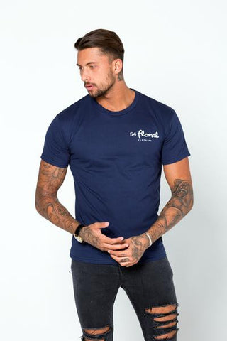 54 FLORAL BASE T-SHIRT | NAVY
