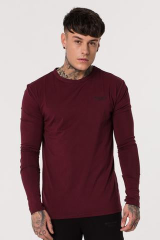 Muscle Monkey BURGUNDY LONG SLEEVE TEE