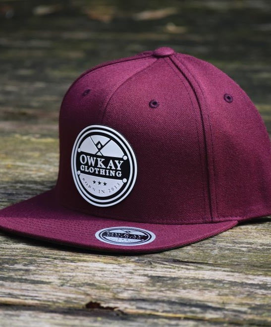 Owkay Clothing SNAPBACK PATCH BURGUNDY