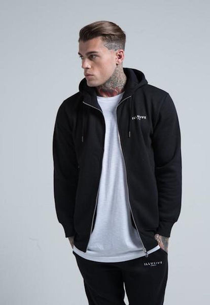 ILLUSIVE LONDON Black Marl Illusive Hoodie
