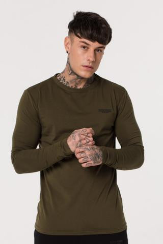 Muscle Monkey KHAKI LONG SLEEVE TEE
