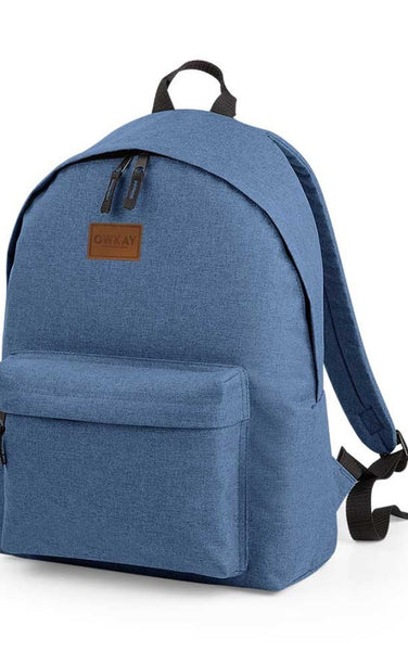 Owkay Clothing BACKPACK DENIM BLUE