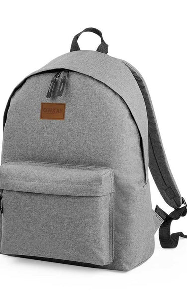 Owkay Clothing BACKPACK GREY MARL