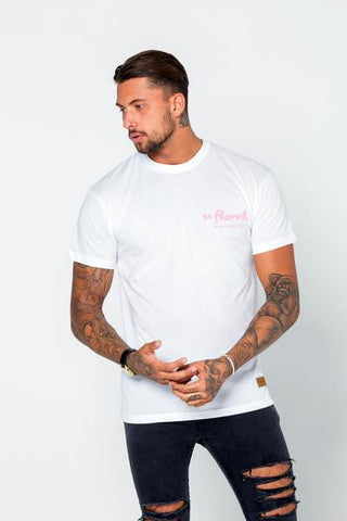 54 FLORAL BASE T-SHIRT | WHITE/PINK