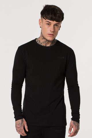 Muscle Monkey BLACK LONG SLEEVE TEE