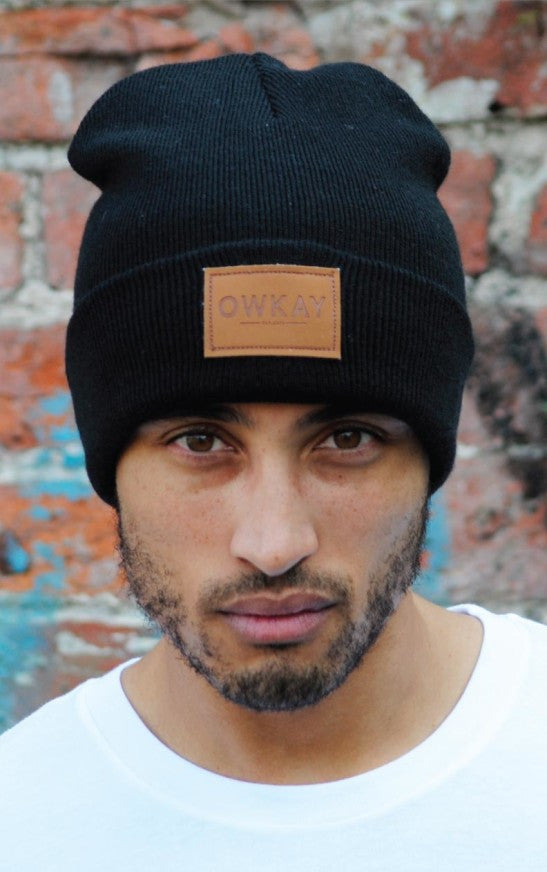 Owkay Clothing BEANIE PATCH BLACK