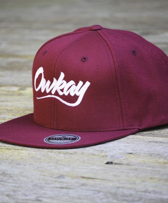Owkay Clothing SNAPBACK BURGUNDY