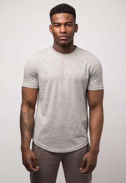 Avid & Co. Slubbed Tee - Grey Marl