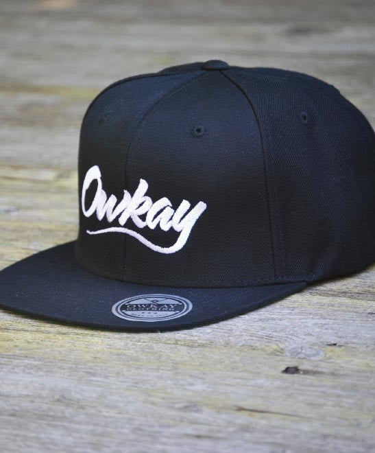 Owkay Clothing BLACK SNAPBACK