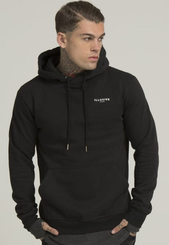Illusive London A OVERHEAD HOODIE - BLACK