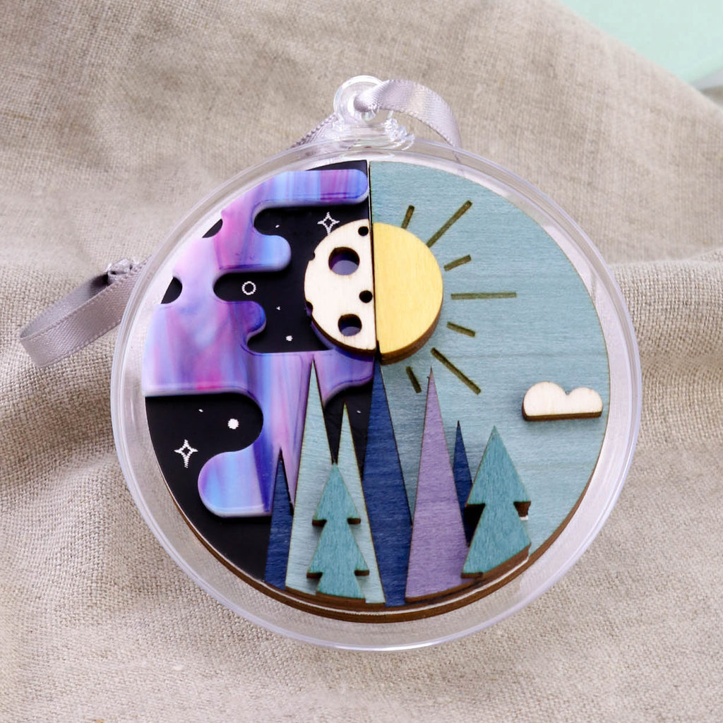 Sun and Moon 3D Layered Bauble