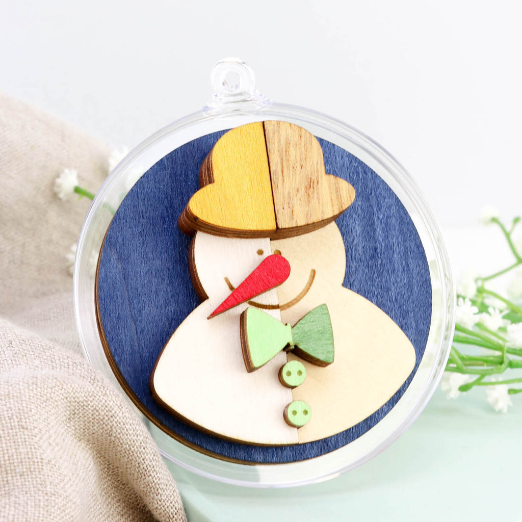 Snowman 3D Layered Bauble