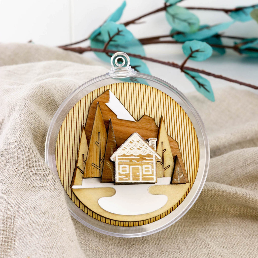 Gingerbread House 3D Layered Bauble