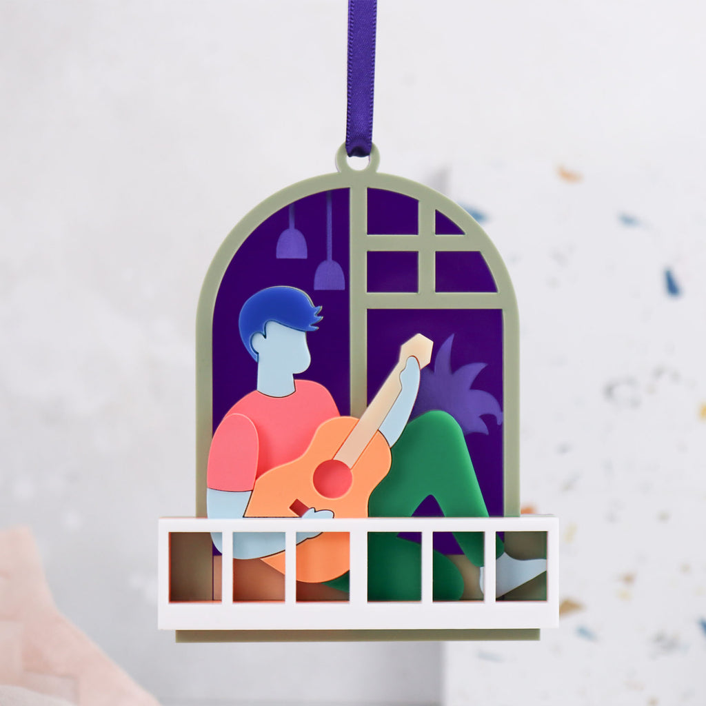 Musician 3D Layered Ornament