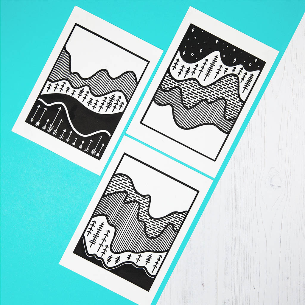 Topography Abstract Prints