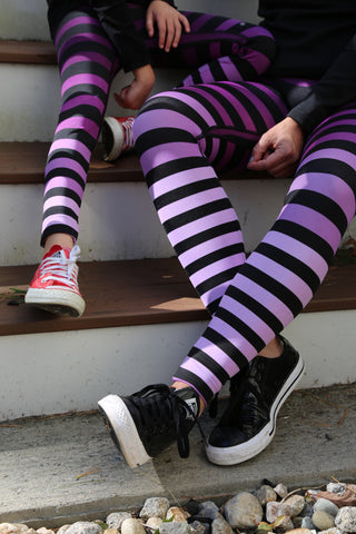 Morgan stripe leggings