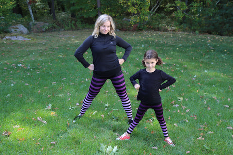 Morgan and daughter in strong pose