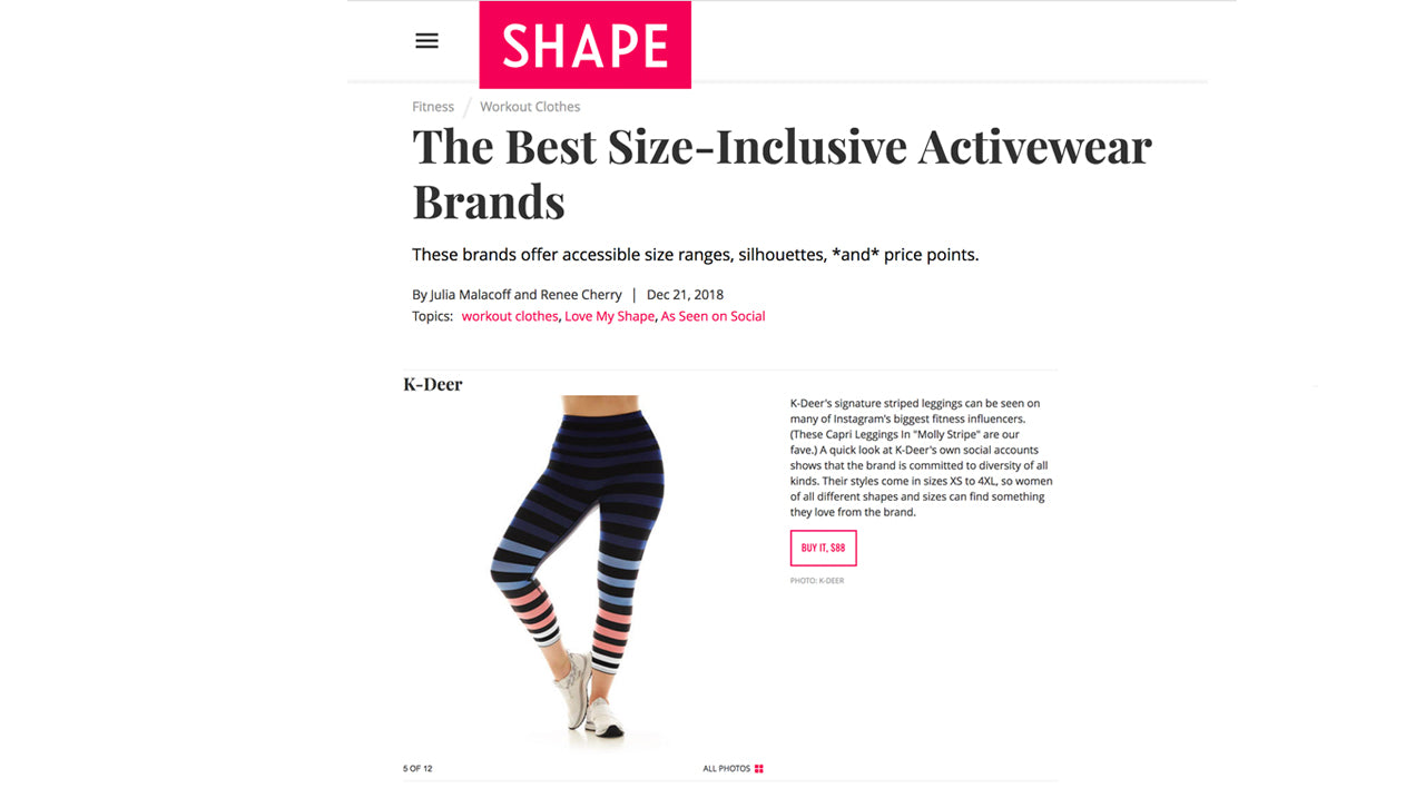 77e5f228bd Press Mentions About Our Striped Leggings | K-DEER