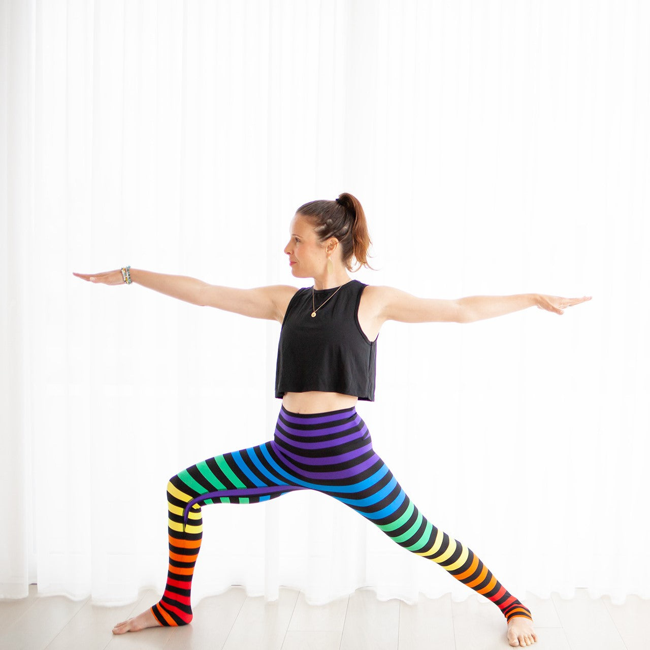 15cfd70c4b0f83 K-DEER | Activewear | Striped Leggings
