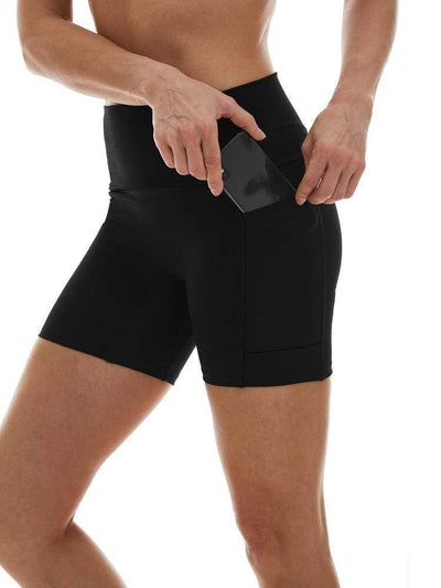 5 Pocket Short in Black - SHORT-SHORTS