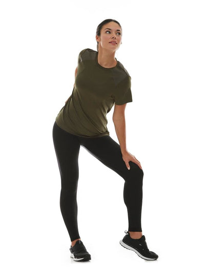 Combo Tee in Dark Olive - TRICOTS TOPS