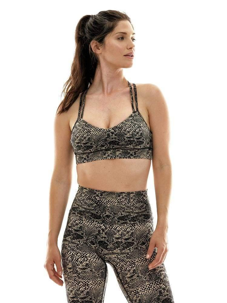 Criss Cross Sports Bra in Tabata