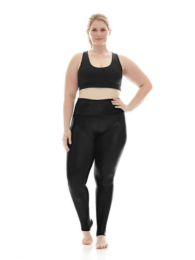 Hi-Luxe Legging in Black - LEGGINGS