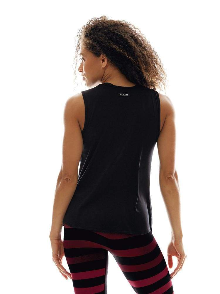 Jersey Muscle Tank in Black
