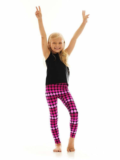 Kids Legging in Hot Dot - KIDS LEGGINGS