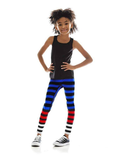 Kids Legging in Susanne Stripe - Kids Leggings