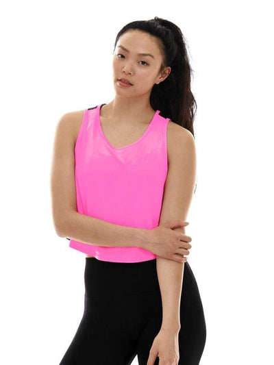 Laser Cut Tank in Pink/Black